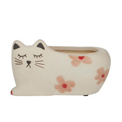 Cindy Cat Cer Planter - Eden Gardens