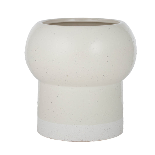 Tai Ceramic Footed Pot Ivory - Eden Gardens