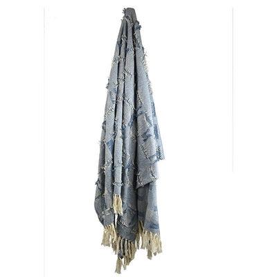 Sorrento Cotton Throw Denim - Eden Gardens