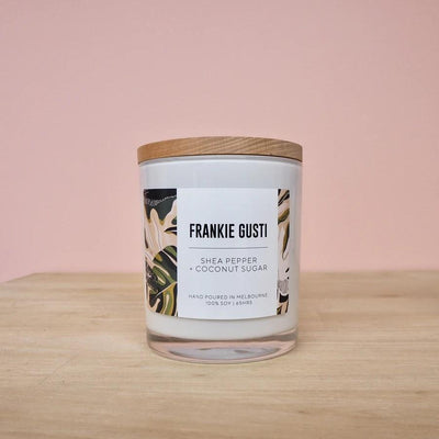 Shea Pepper & Coconut Sugar Frankie Gusti Signature Collection Candle - Eden Gardens