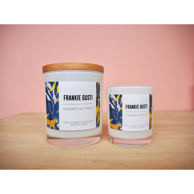 Ginger Fizz & Mint Frankie Gusti Signature Collection Candle - Eden Gardens