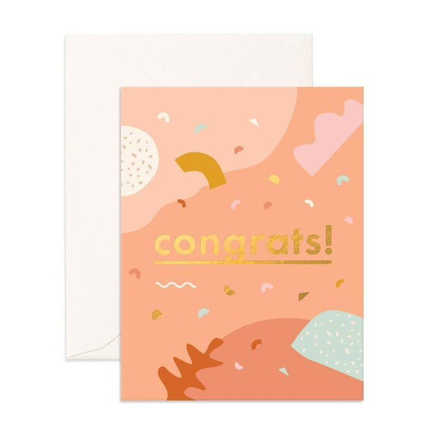 CONGRATS ABSTRACT CARD - Eden Gardens