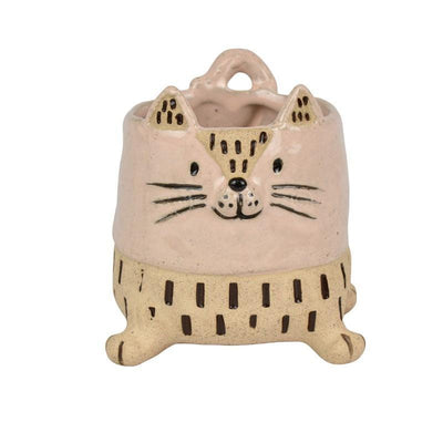 Celeste Cat Ceramic Planter - Eden Gardens