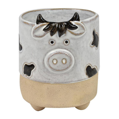 Clarrie Cow Ceramic Pot - Eden Gardens