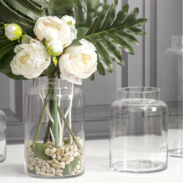 Glass Dimi Squat Dome Vase Clear - Eden Gardens