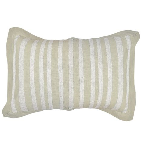 Nina Cotton Emb Cushion Nat/Wht# - Eden Gardens