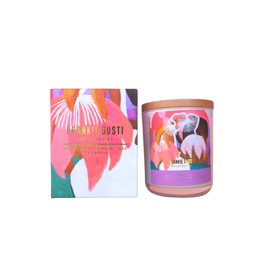 Blackcurrant, Cyclamen + Citrus Frankie Gusti Artist Series Candle - Eden Gardens