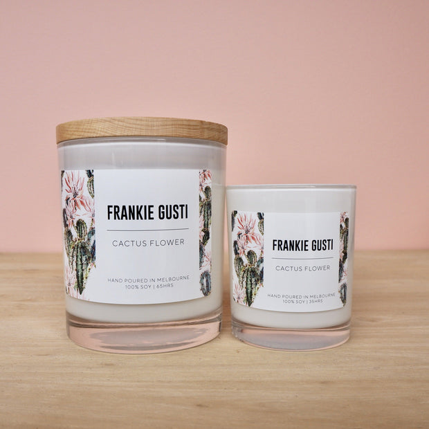 Cactus Flower Frankie Gusti Candle Signature Collection Candle - Eden Gardens