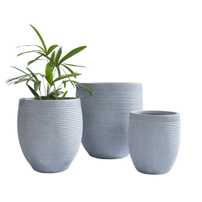 Rise Egg Pot Grey - Eden Gardens