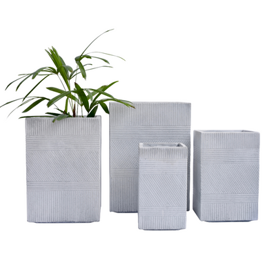 Andes Rectangle Pot Grey - Eden Gardens