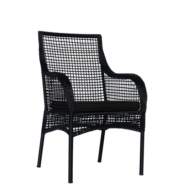 Senegal Armchair Black - Eden Gardens
