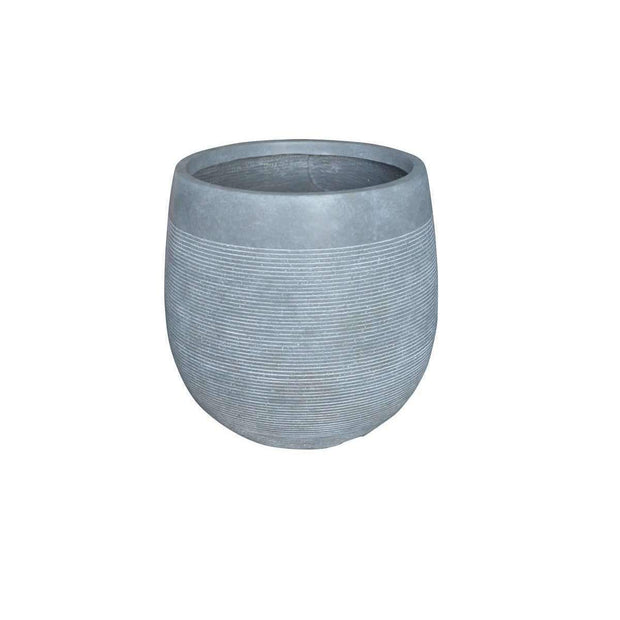 Ridge Egg Pot Grey - Eden Gardens