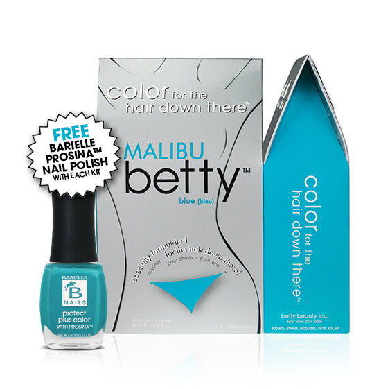 Betty Beauty Malibu (Blue) Betty Color Kit w/Free Prosina Nail Polish