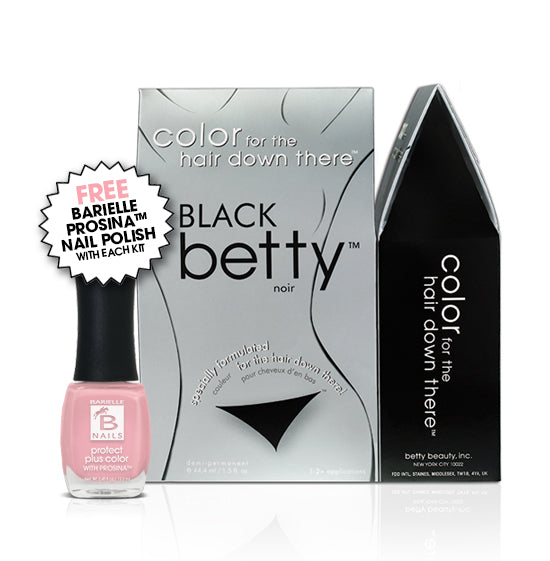 Black Betty Intimate Hair Color Kit with Free Prosina Nail Polish