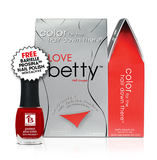 Betty Beauty Love (Red) Betty Color Kit w/Free Prosina Nail Polish