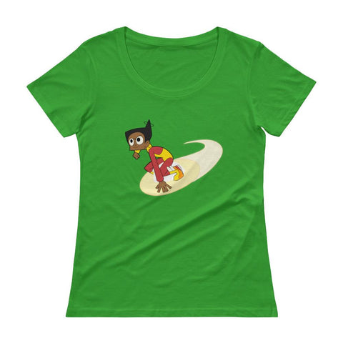 Endless Esther Ladies' Scoopneck T-Shirt Green Apple | Twelve Forever