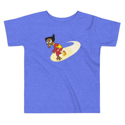 Endless Esther Toddler Short Sleeve Tee Heather Columbia Blue | Twelve Forever