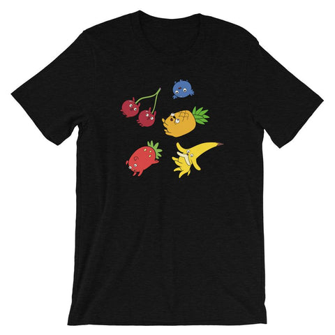 Fruit Puppies Soft Short-Sleeve Unisex T-Shirt Black Heather | Twelve Forever