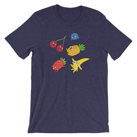 Fruit Puppies Soft Short-Sleeve Unisex T-Shirt Heather Midnight Navy | Twelve Forever