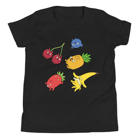 Fruit Puppies Youth Short Sleeve T-Shirt Black | Twelve Forever