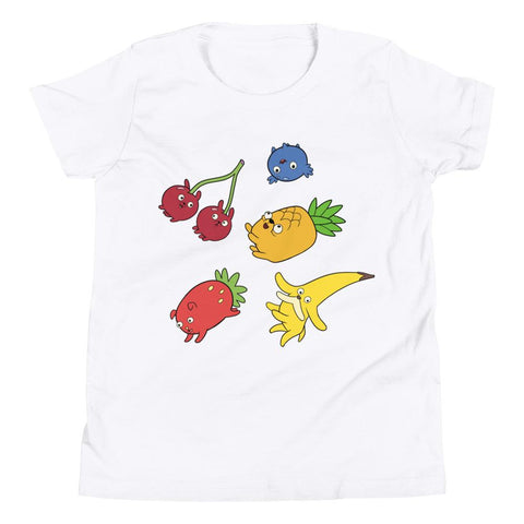 Fruit Puppies Youth Short Sleeve T-Shirt White | Twelve Forever