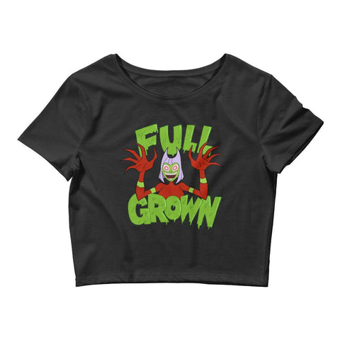 Full Grown Women's Crop Tee Black | Twelve Forever