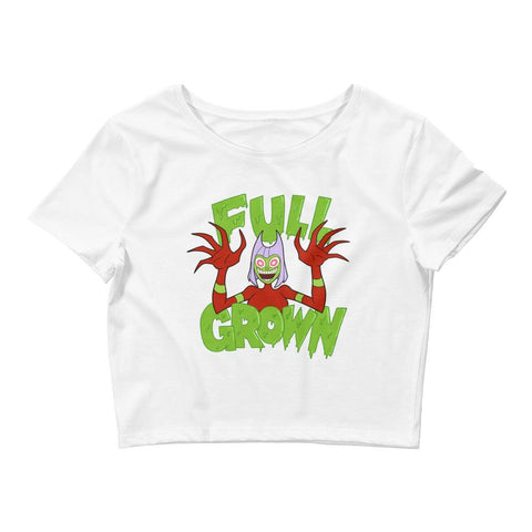 Full Grown Women's Crop Tee White | Twelve Forever