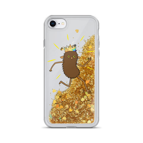 Brown Roger Liquid Glitter Phone Case