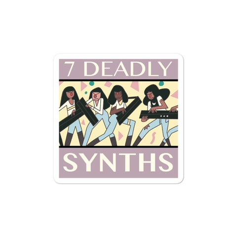 7 Deadly Synths Bubble-Free Stickers