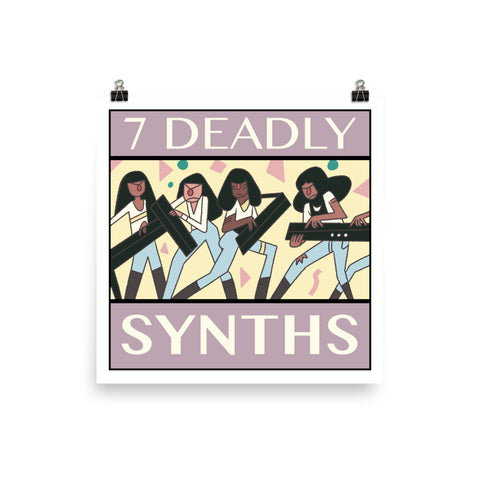 7 Deadly Synths Poster