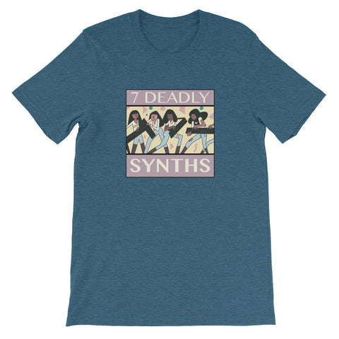 7 Deadly Synths Heather Short-Sleeve Unisex T-Shirt