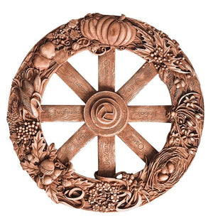 Wheel of the Year Altar Plaque 11""