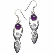 Load image into Gallery viewer, Goddess Gemstone .925 Sterling Silver Earrings (5 Types)