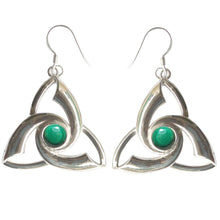 Load image into Gallery viewer, Triquetra Gemstone .925 Sterling Silver Earrings (2 Types)