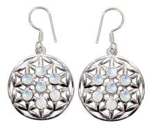Load image into Gallery viewer, Flower of Life Gemstone .925 Sterling Silver Earrings (2 Types)