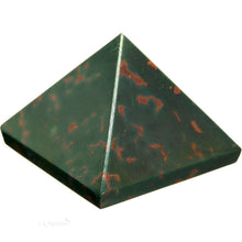 Load image into Gallery viewer, Bloodstone Pyramid Crystal (25-30mm)