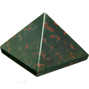 Bloodstone Pyramid Crystal (25-30mm)