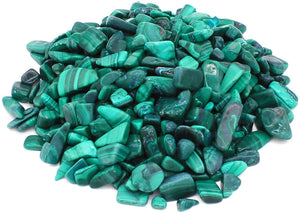 Malachite Tumbled Crystal Chips (1lb)