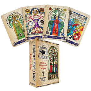 Enchanted Spell Oracle: Medieval Hedgewitch Magick Cards Deck (Priestess Moon)