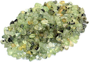 Green Prehnite Tumbled Crystal Chips (1lb)
