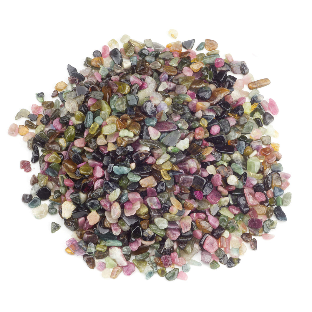Rainbow Tourmaline Tumbled Crystal Chips (1lb)