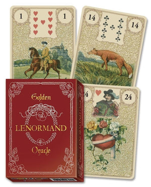 Golden Lenormand Oracle Cards Deck (Lo Scarabeo)