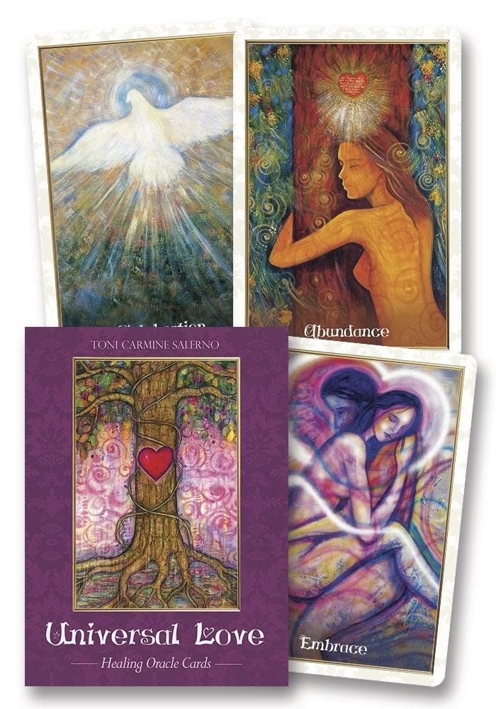 Universal Love Healing Oracle Cards Deck & Book (Toni Carmine Salerno)