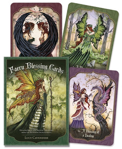 Faery Blessing Cards Oracle Cards Deck & Book (Lucy Cavendish)