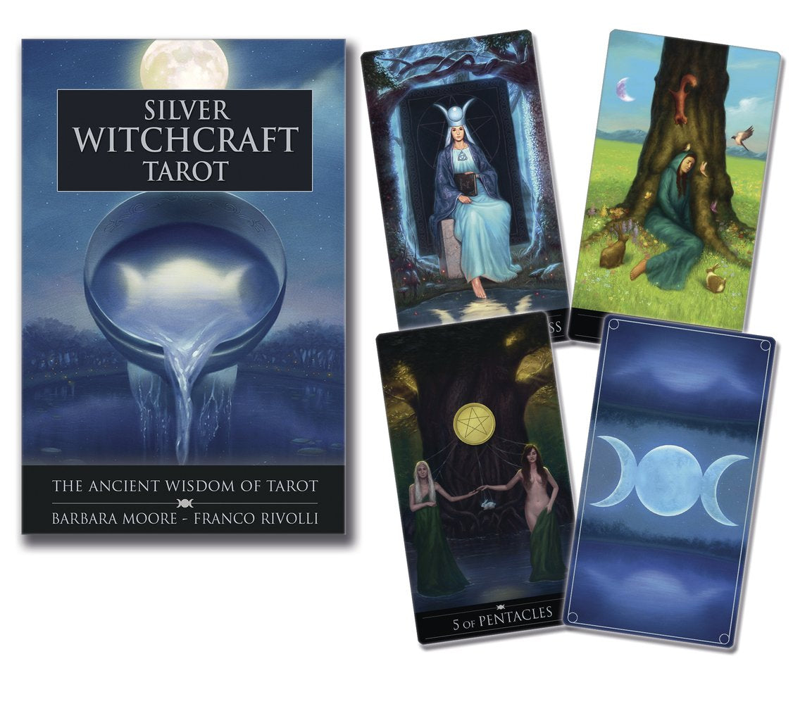 Silver Witchcraft Tarot Deck & Book (Moore & Rivolli)