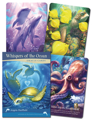 Whispers of the Ocean Oracle Cards Deck & Book (Angela Hartfield & Ekaterina Golovanova)