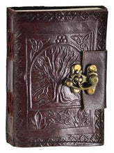 Load image into Gallery viewer, Tree of Life Pocket Hand Tooled Leather Journal