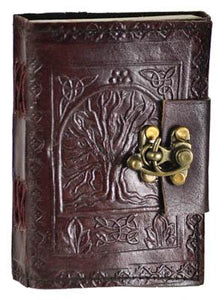 Tree of Life Pocket Hand Tooled Leather Journal