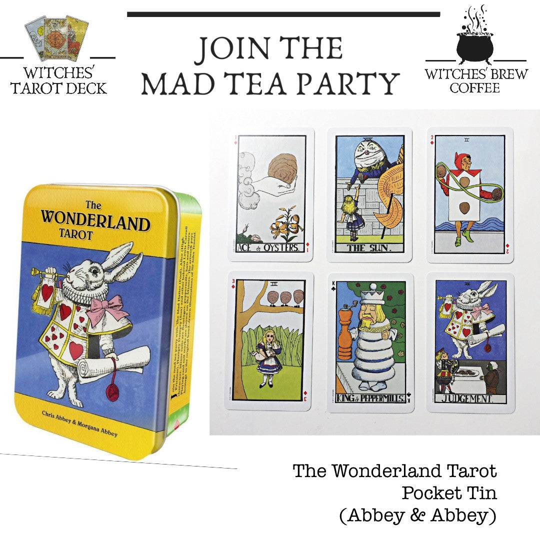 The Wonderland Tarot Deck Pocket Tin (Abbey & Abbey)