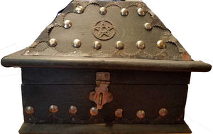 Salem Pentagram Wooden Chest Box